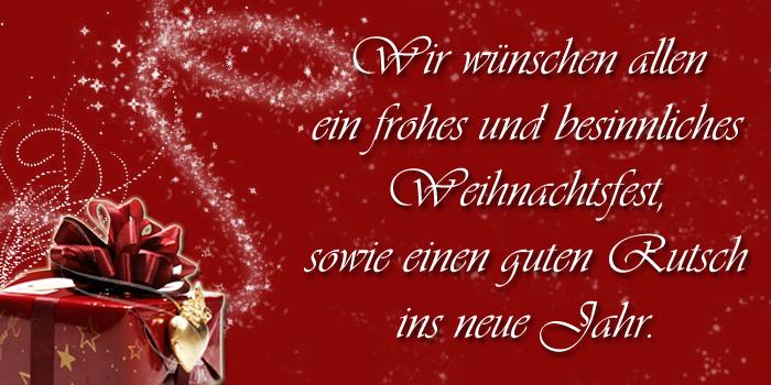 Frohe Weihnachten wünscht Brautmoden Walus