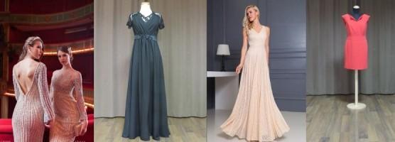 Neue Abendkleider in unserem Brautmodengeschäft